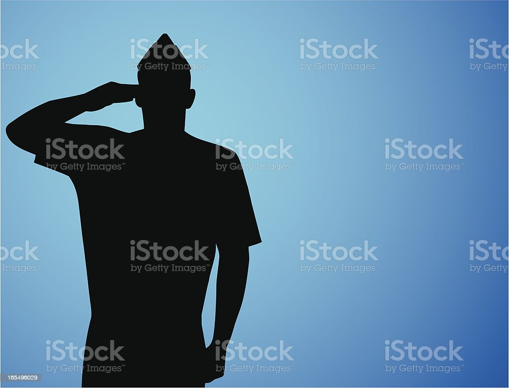 Patriotic Salute vector art illustration