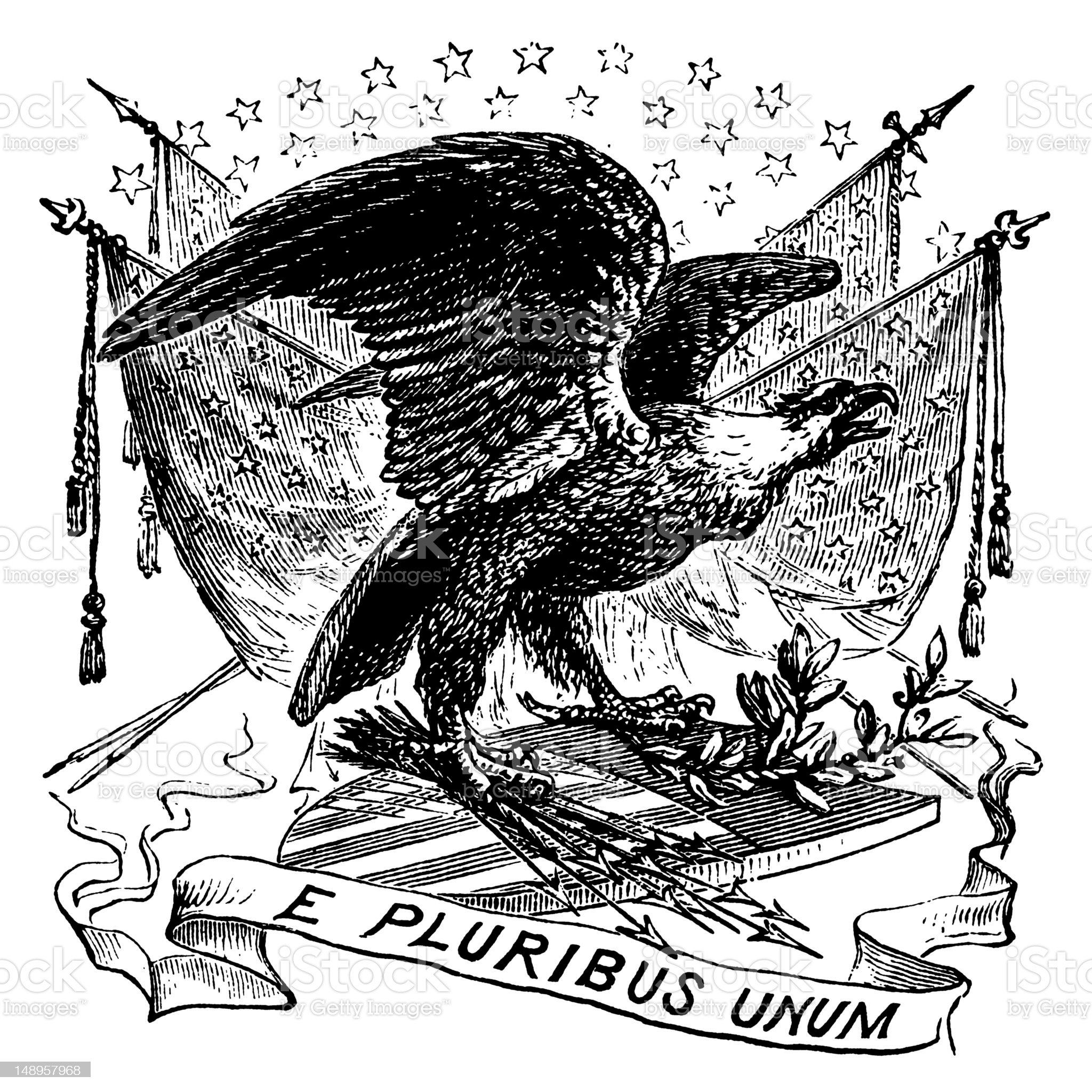 US Patriotic Vignette royalty-free stock vector art