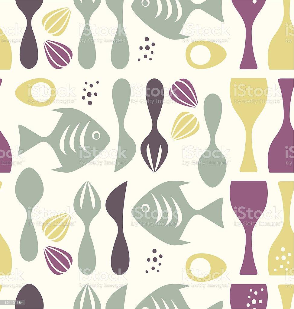 Pattern kitchen royalty-free stock vector art