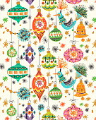 Pattern of Christmas Ornaments