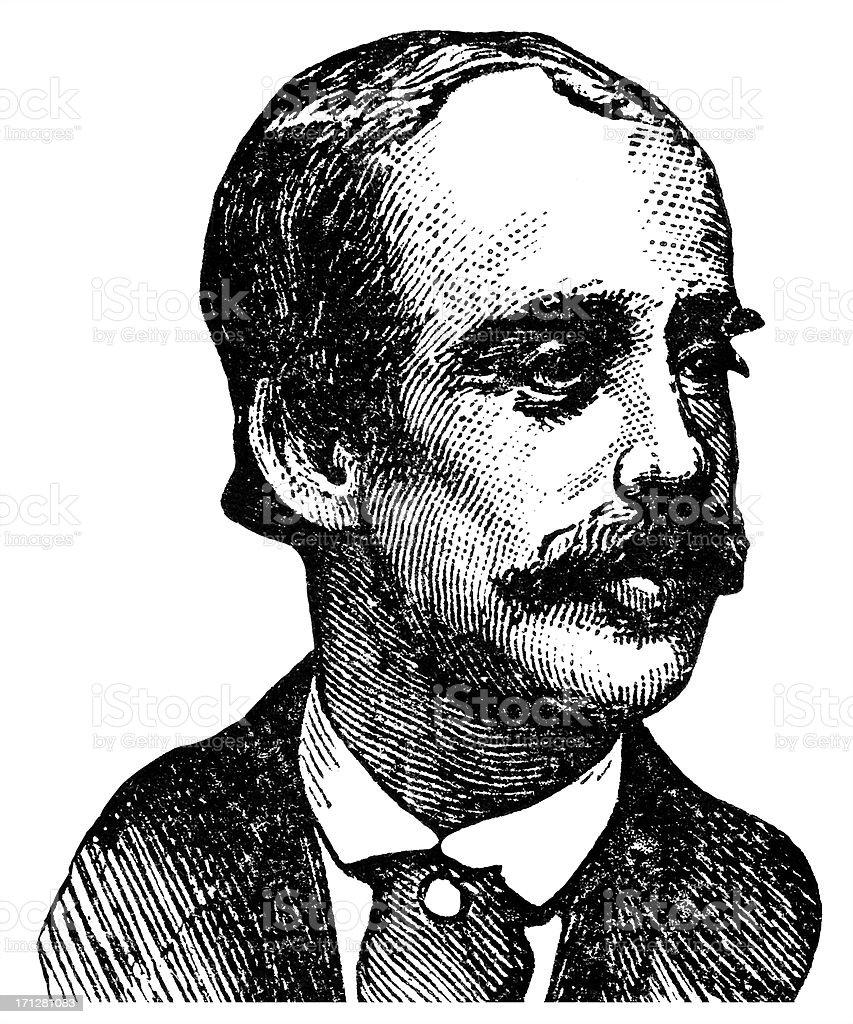 Paul du Chaillu vector art illustration