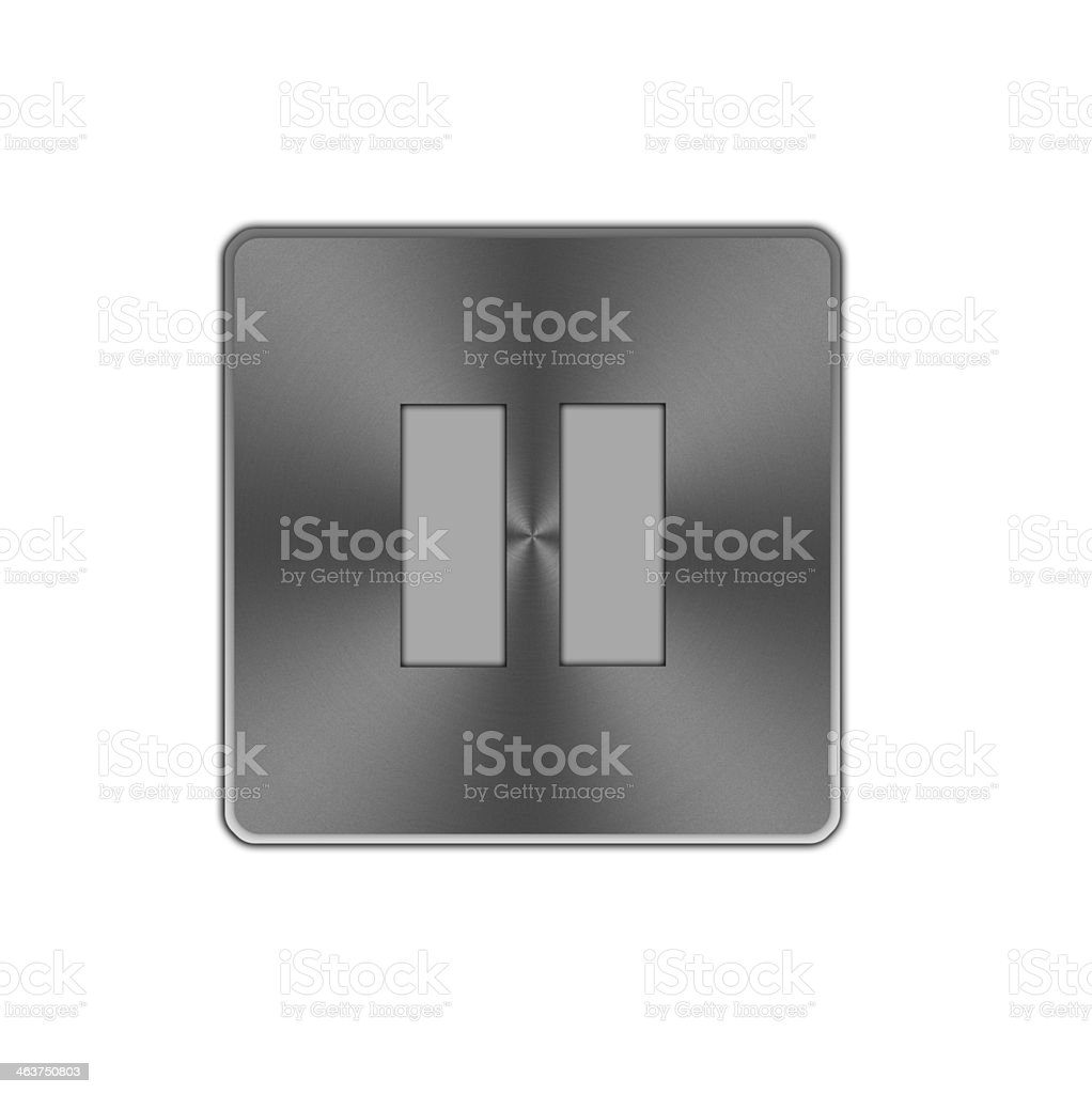 Pause button icon. royalty-free stock vector art