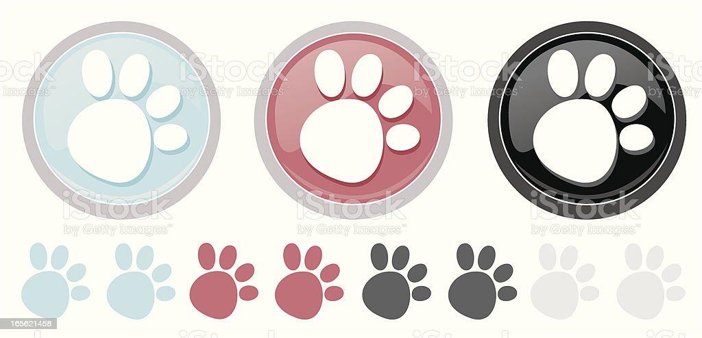 Paw Print Icon royalty-free stock vector art