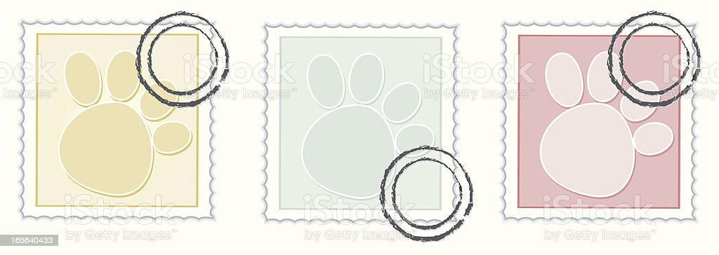Paw print Stamps royalty-free stock vector art