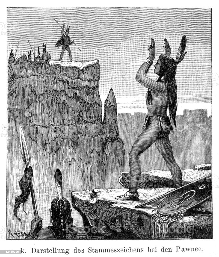 Pawnee Native Americans royalty-free stock vector art