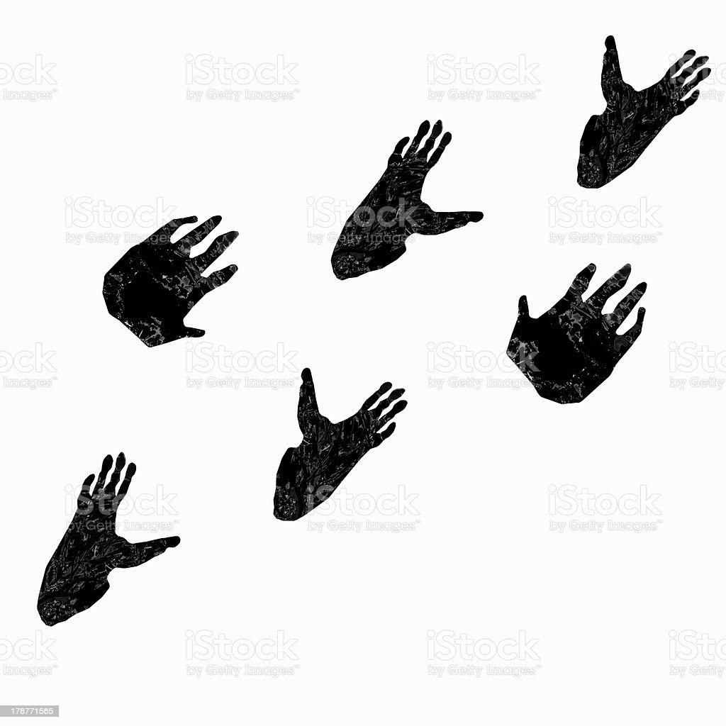 Pawprints of gorilla royalty-free stock vector art