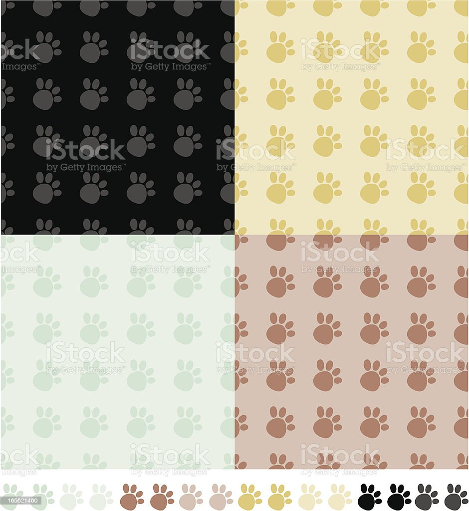 Paws Tile royalty-free stock vector art