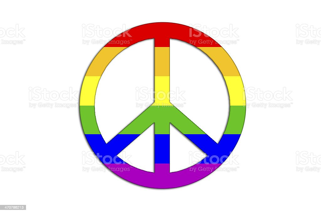 Peace and love symbol. royalty-free stock vector art