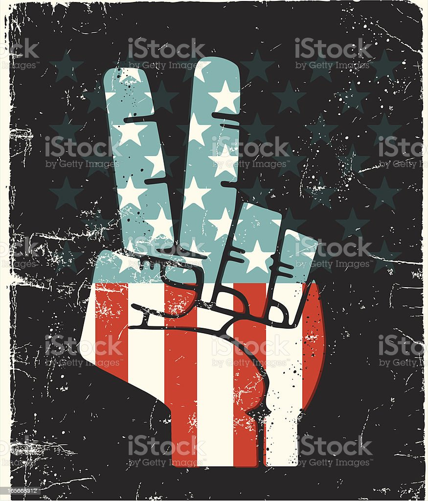 Peace Fingers USA royalty-free stock vector art