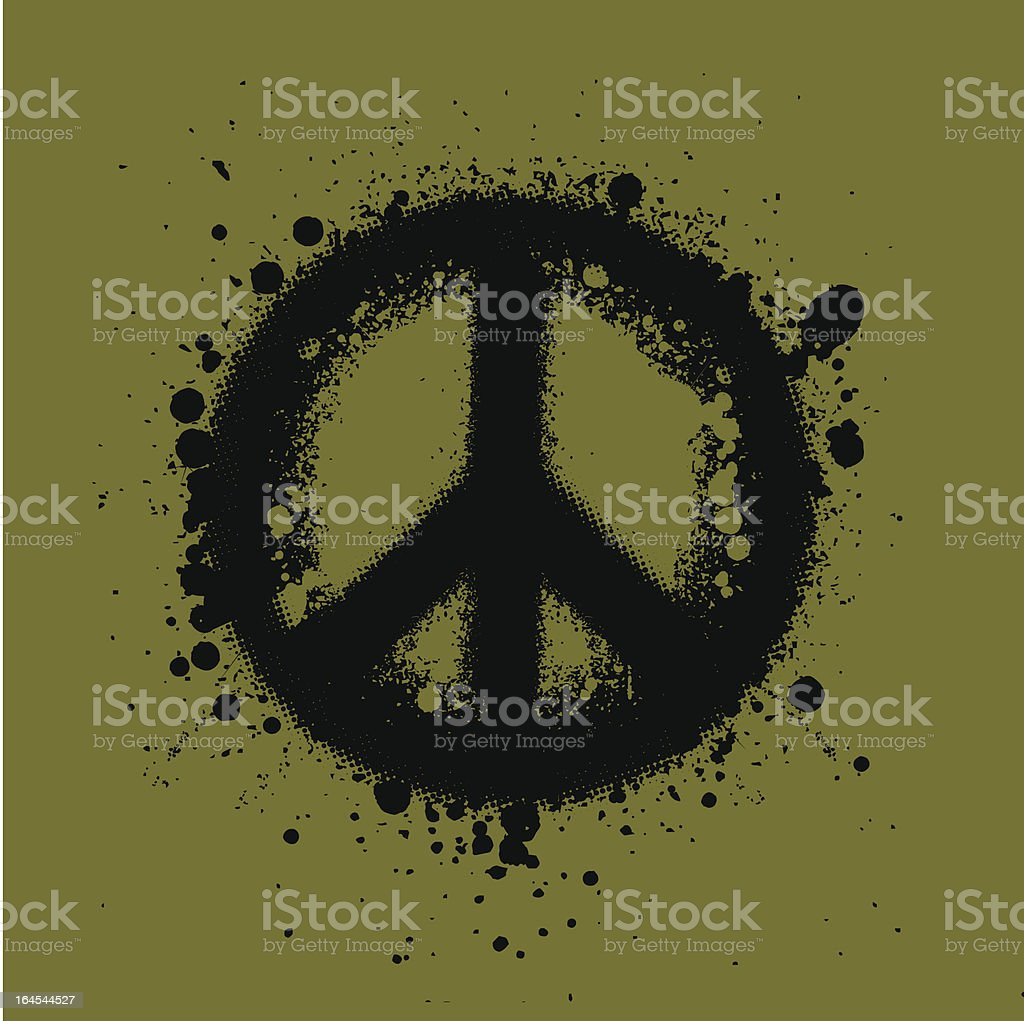 Peace, Ink. royalty-free stock vector art