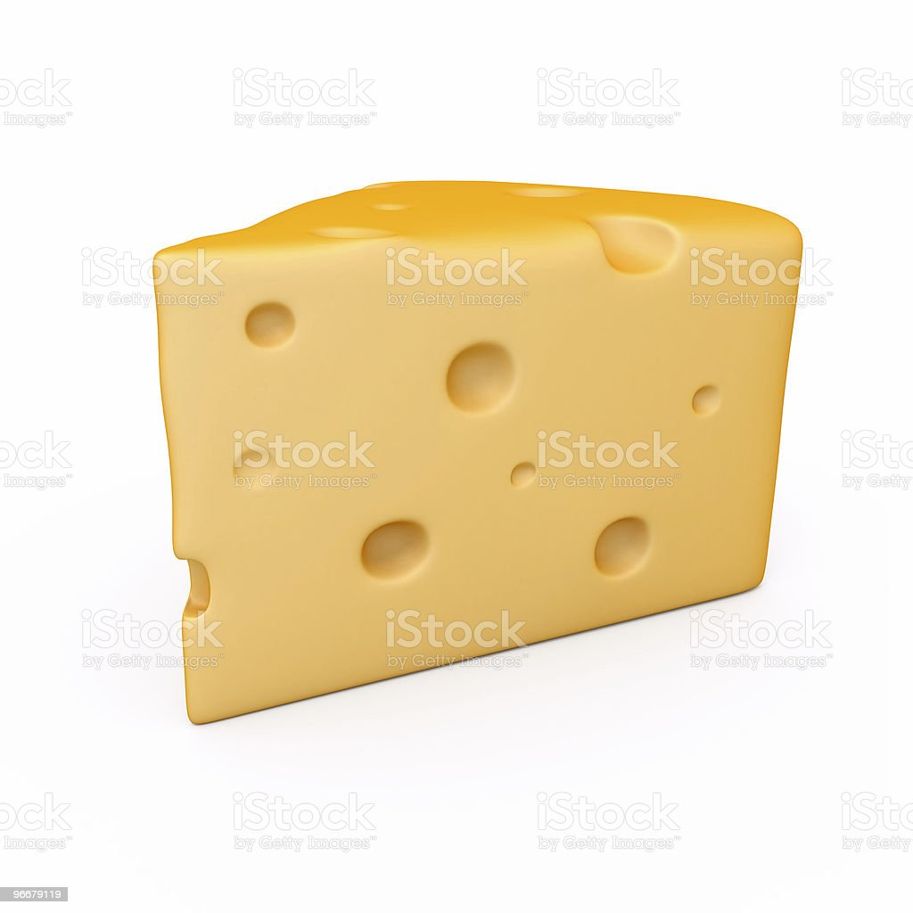 peace of cheese vector art illustration