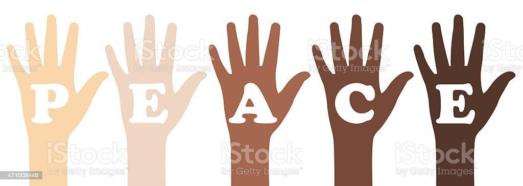 Peace Slogan vector art illustration