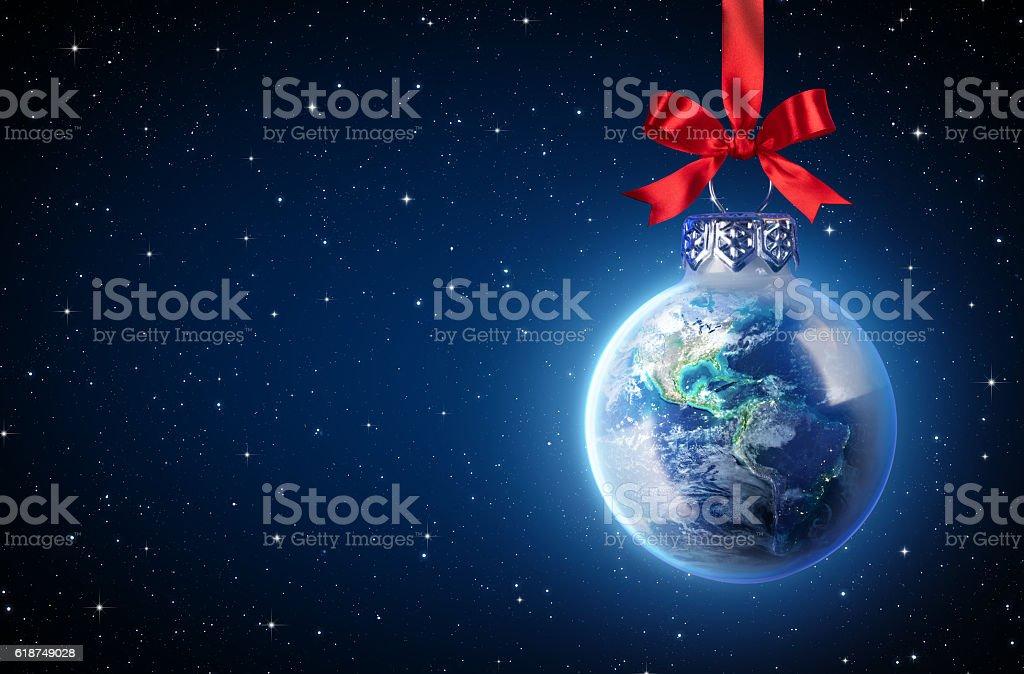 Peaceful Christmas All Over The World vector art illustration