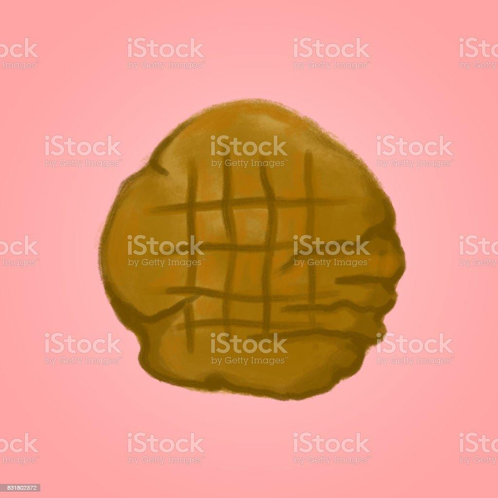 Peanut Butter Cookie vector art illustration