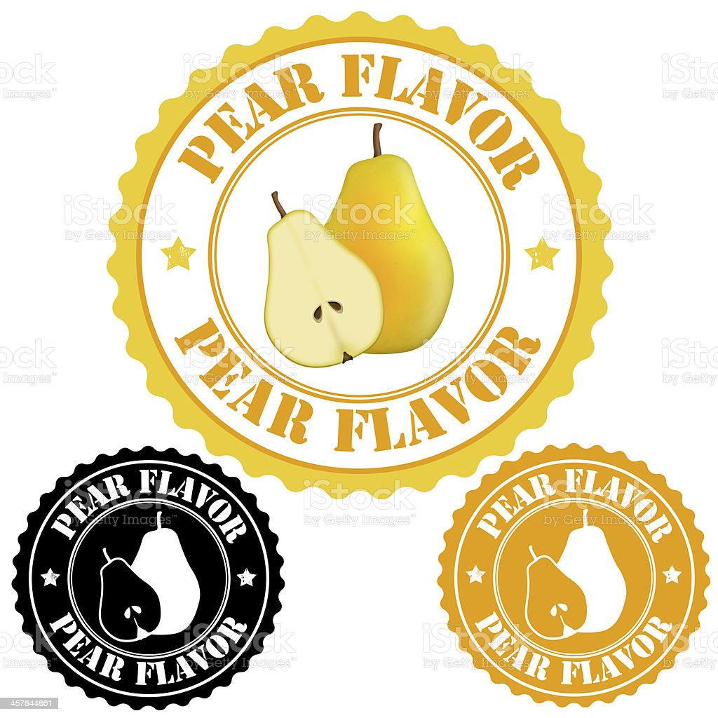 Pear flavor stamps royalty-free stock vector art