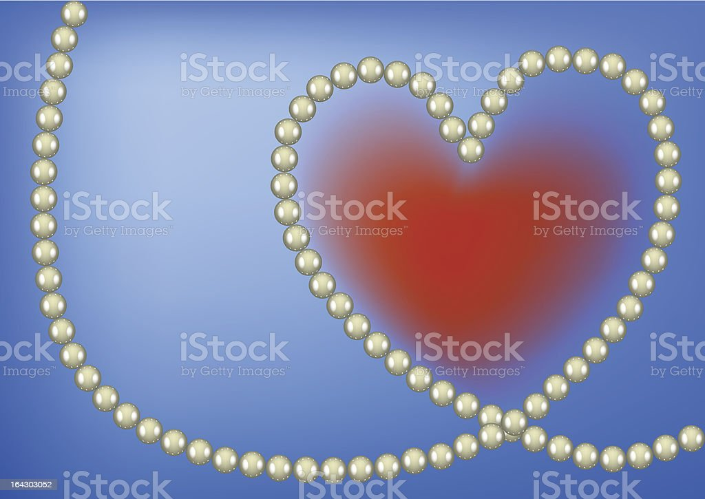 Pearl heart royalty-free stock vector art