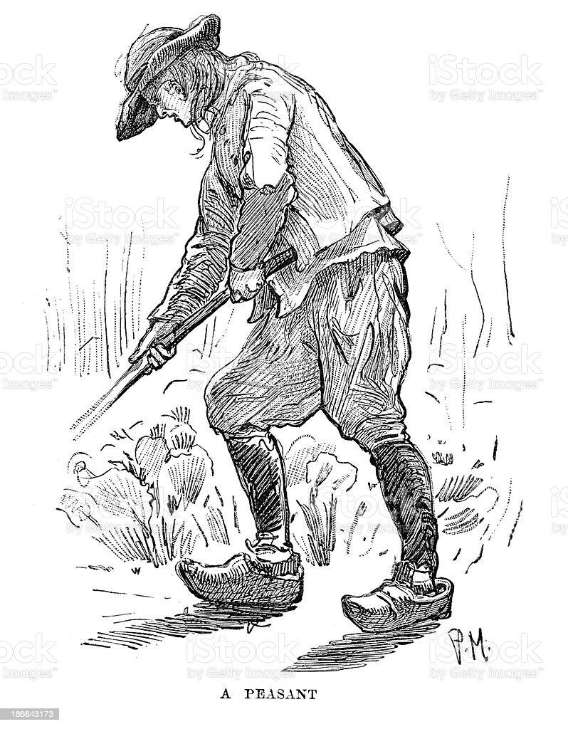 Peasant Farmer of Finistere vector art illustration