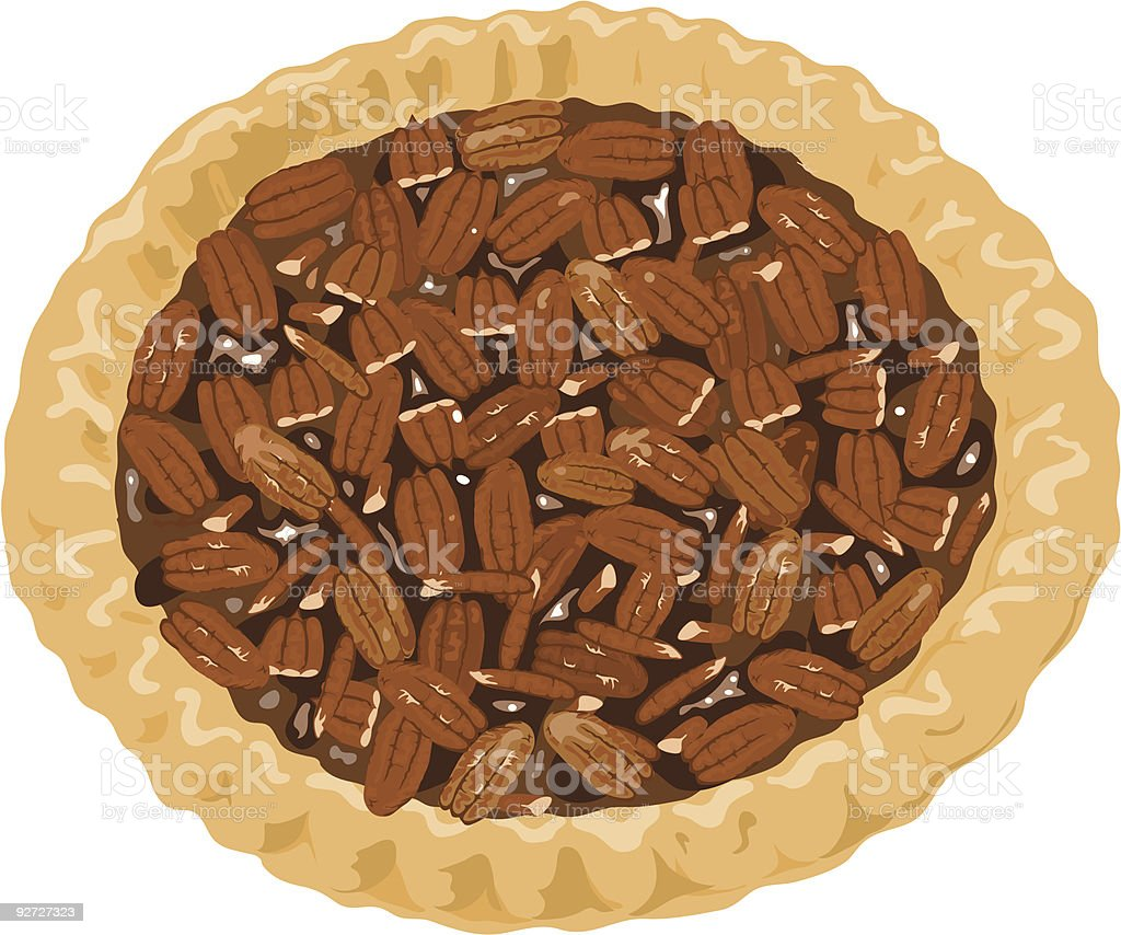 Pecan Pie illustration royalty-free stock vector art
