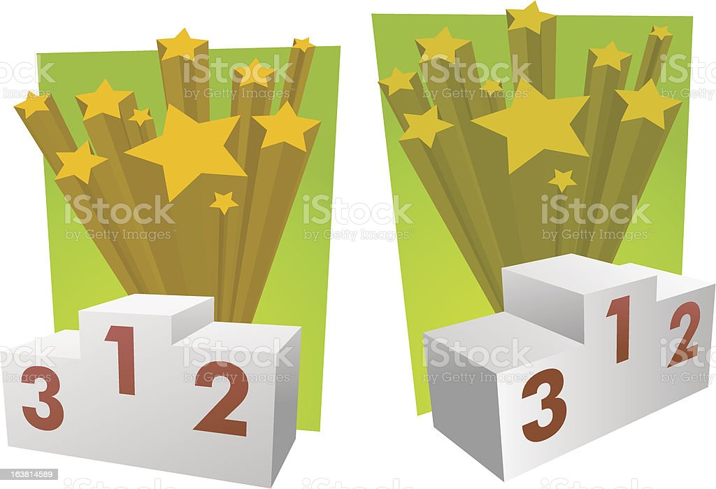 Pedestal royalty-free stock vector art