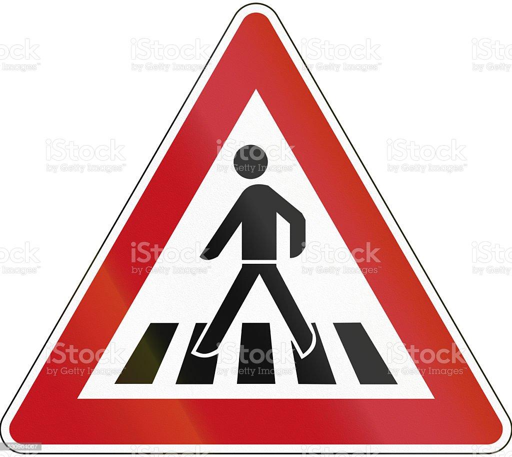 Pedestrian Crossing vector art illustration