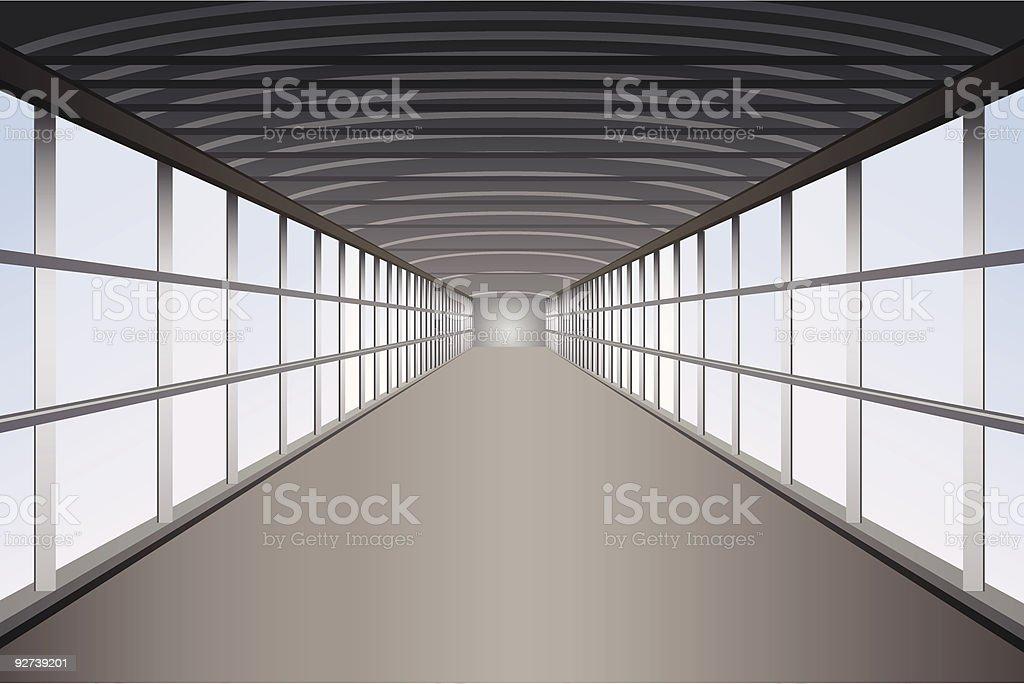 pedestrian tunnel royalty-free stock vector art
