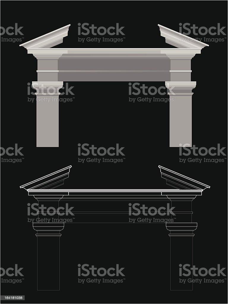 Pediment vector art illustration