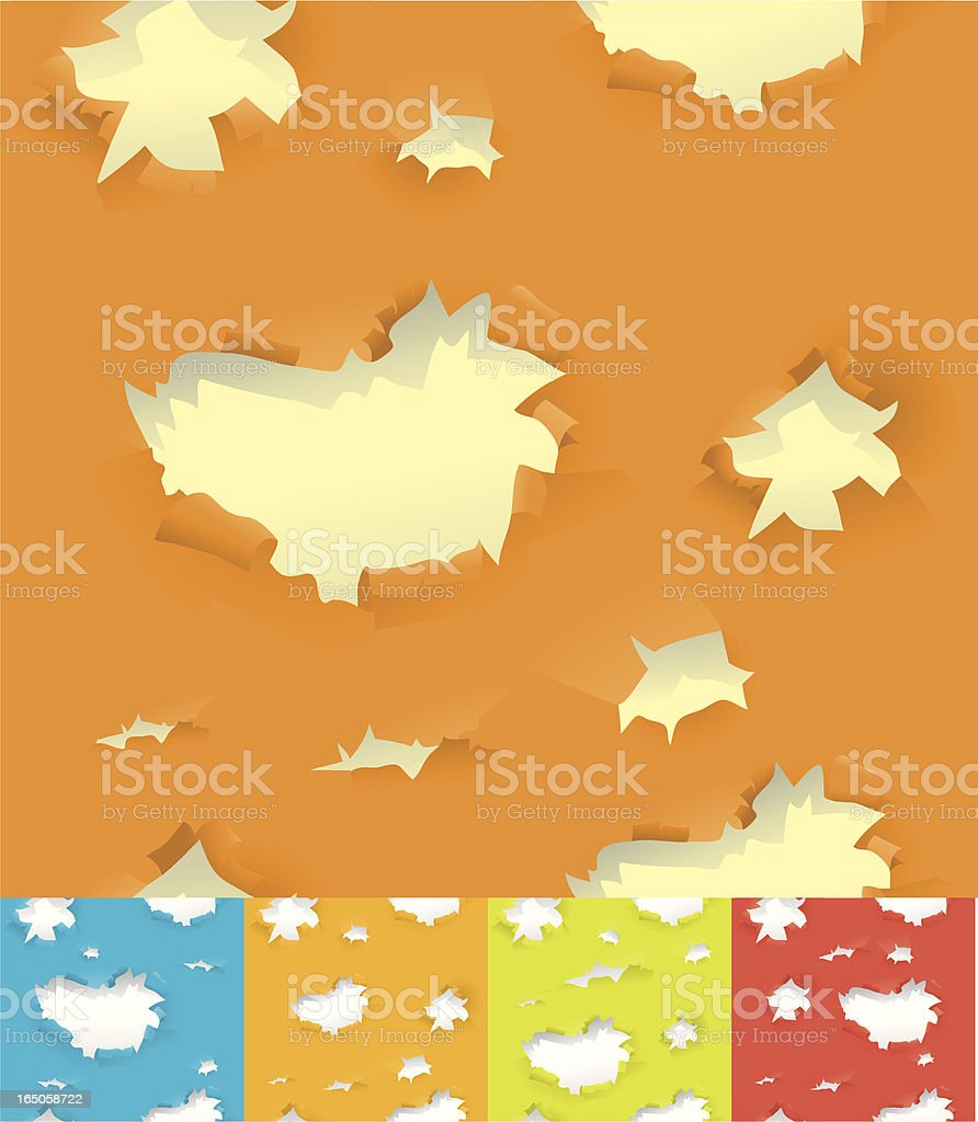 Peeling Paint Background vector art illustration