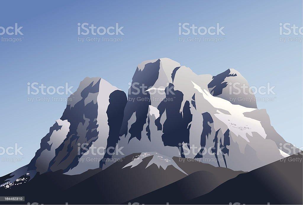 Pelmo mountain royalty-free stock vector art