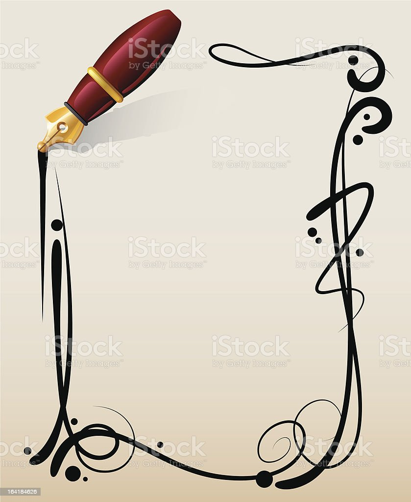 pen royalty-free stock vector art