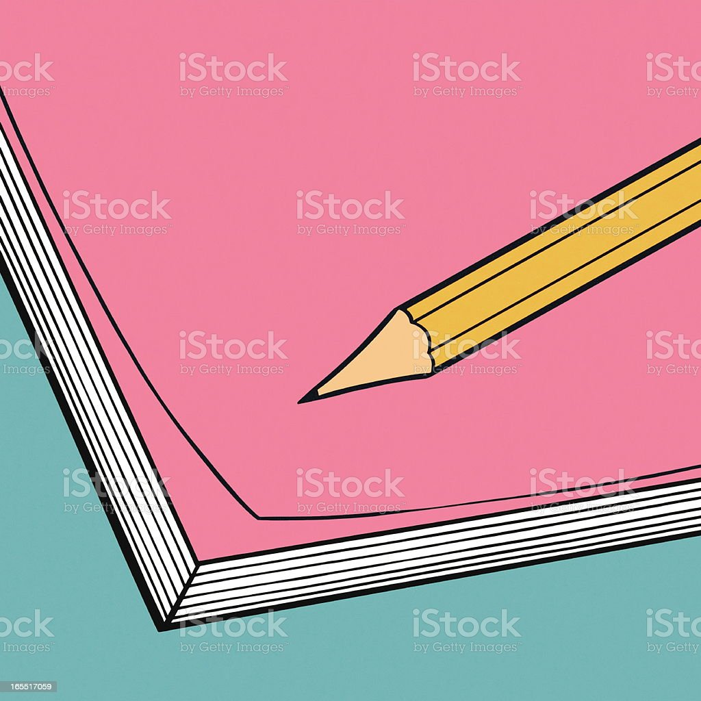 Pencil and Notepad vector art illustration