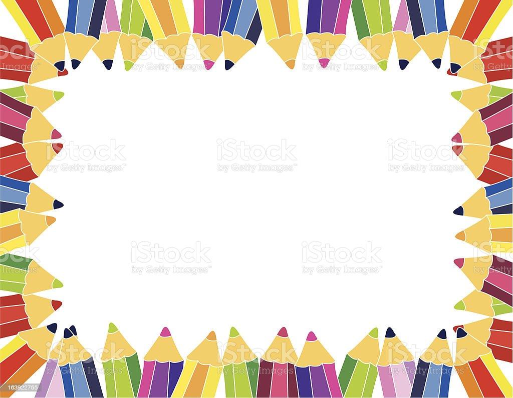 pencil frame royalty-free stock vector art