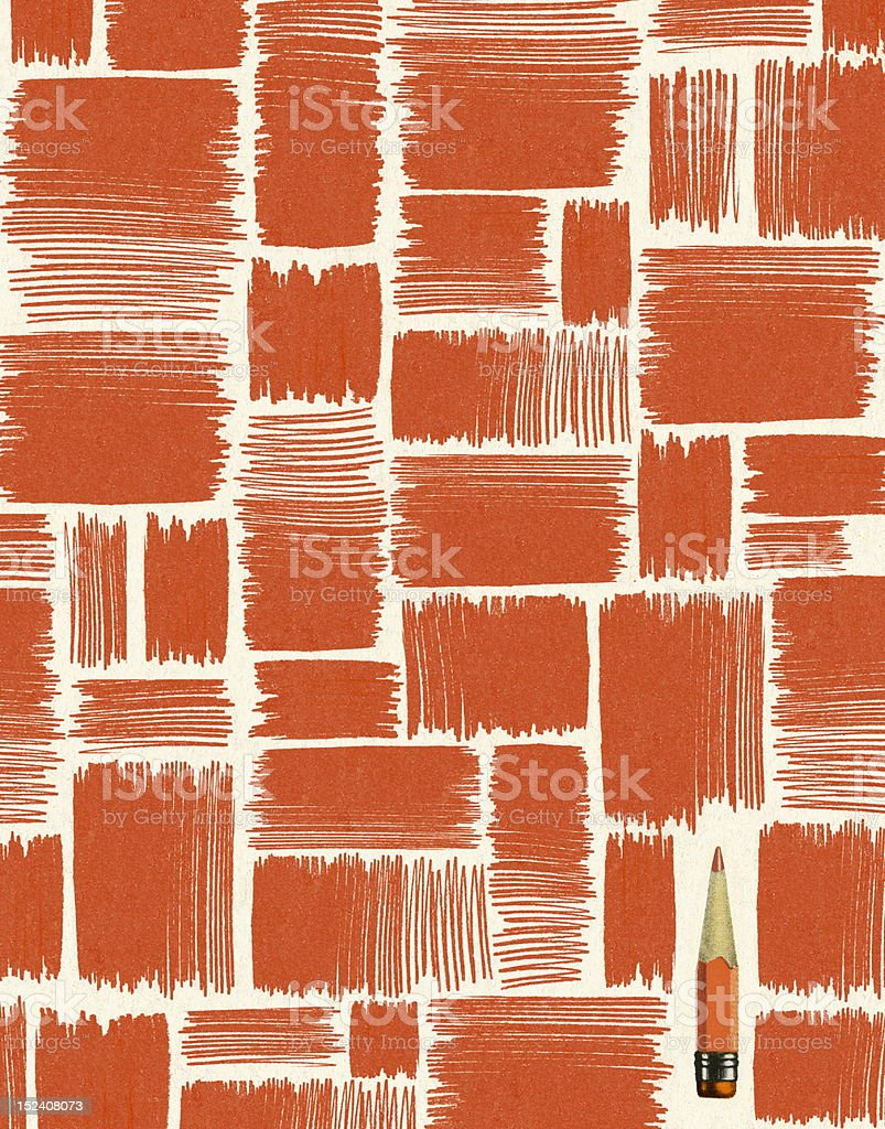 Pencil in Pattern royalty-free stock vector art