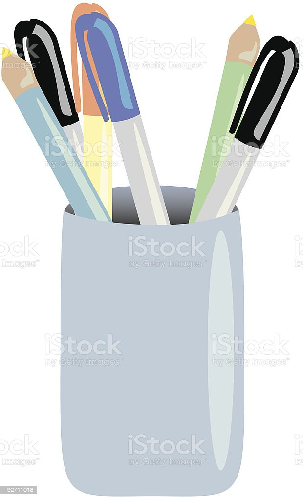 pencils vector art illustration
