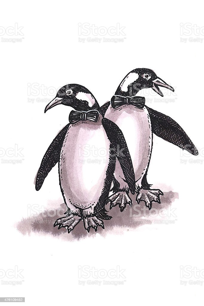 Penguins (Comic) Lizenzfreies vektor illustration