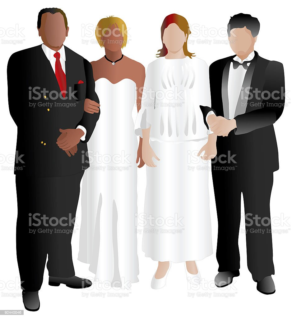 People at Dance Party (Vector) royalty-free stock vector art