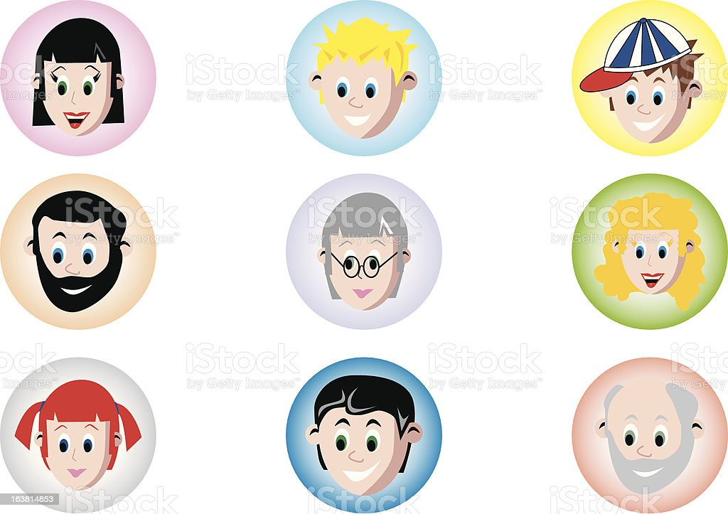 People Faces royalty-free stock vector art