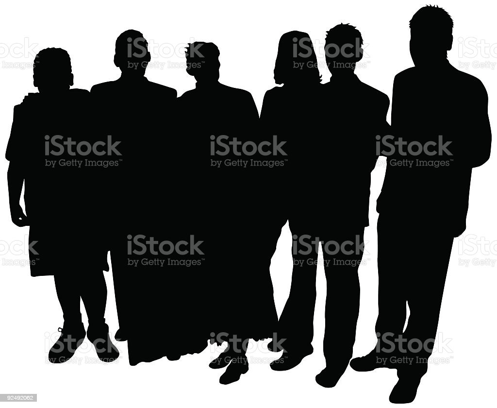 People Group (Vector) royalty-free stock vector art