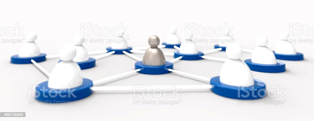 People icons. Social media / Connection concept. stock photo