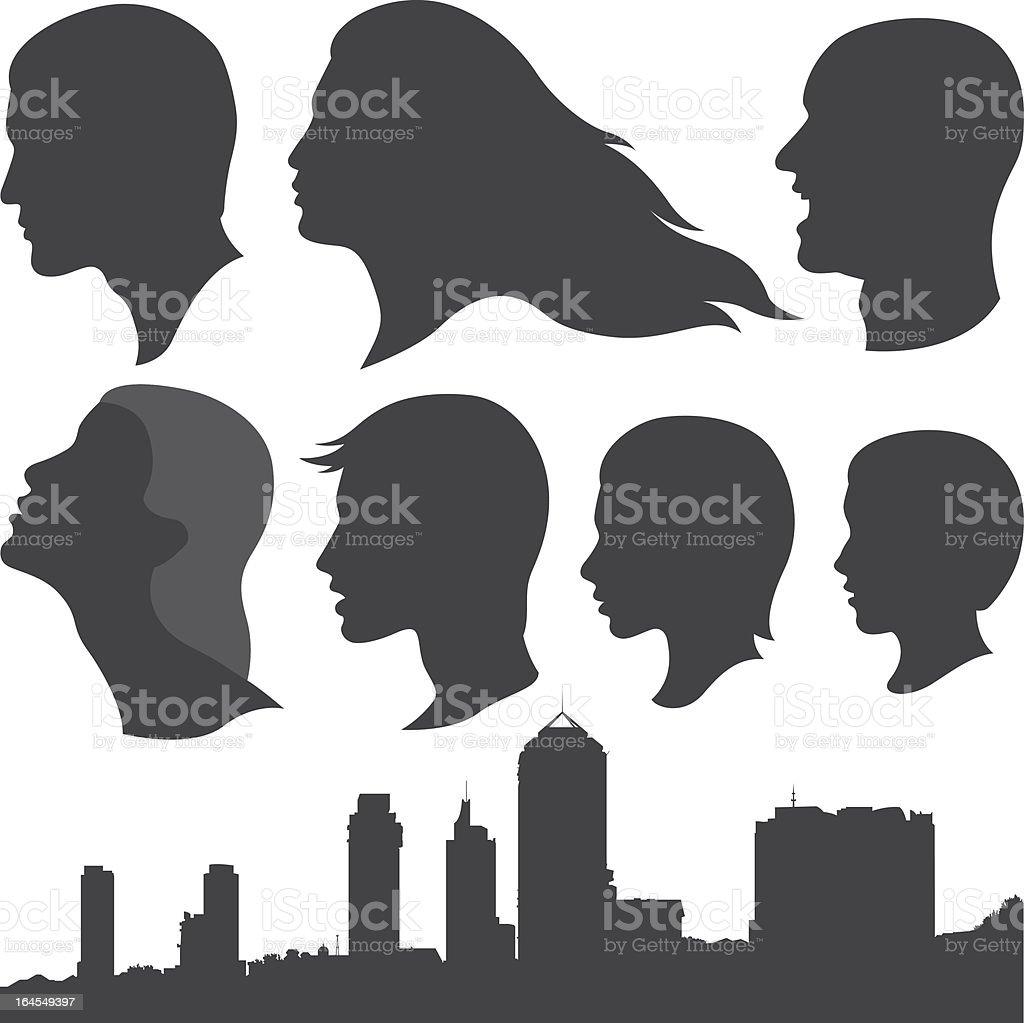 People (vector) vector art illustration