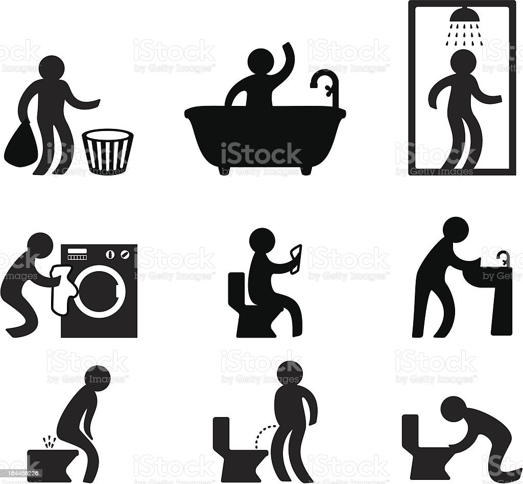 People in various situation vector art illustration