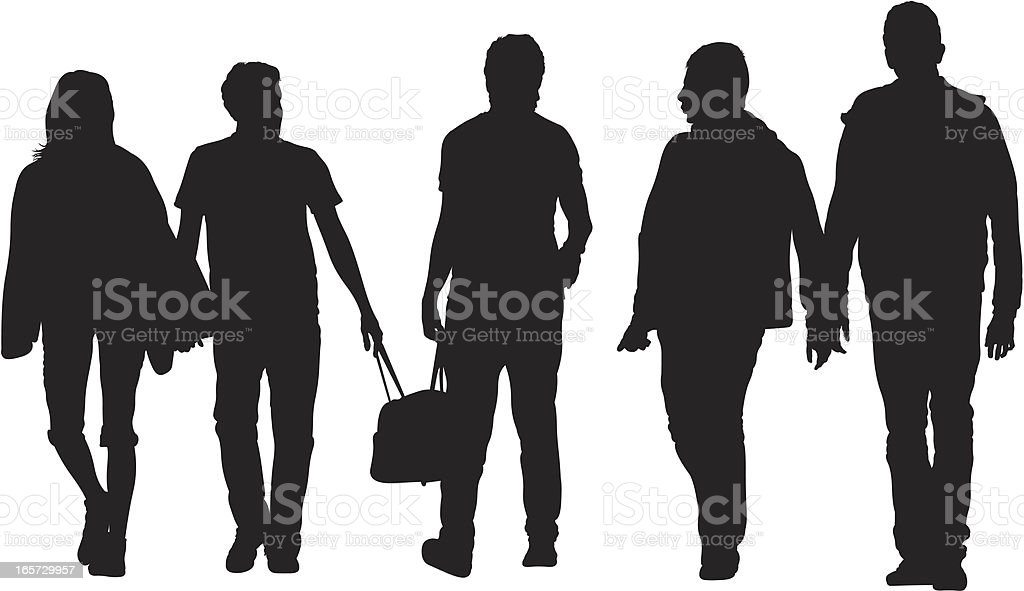 People on a street royalty-free stock vector art