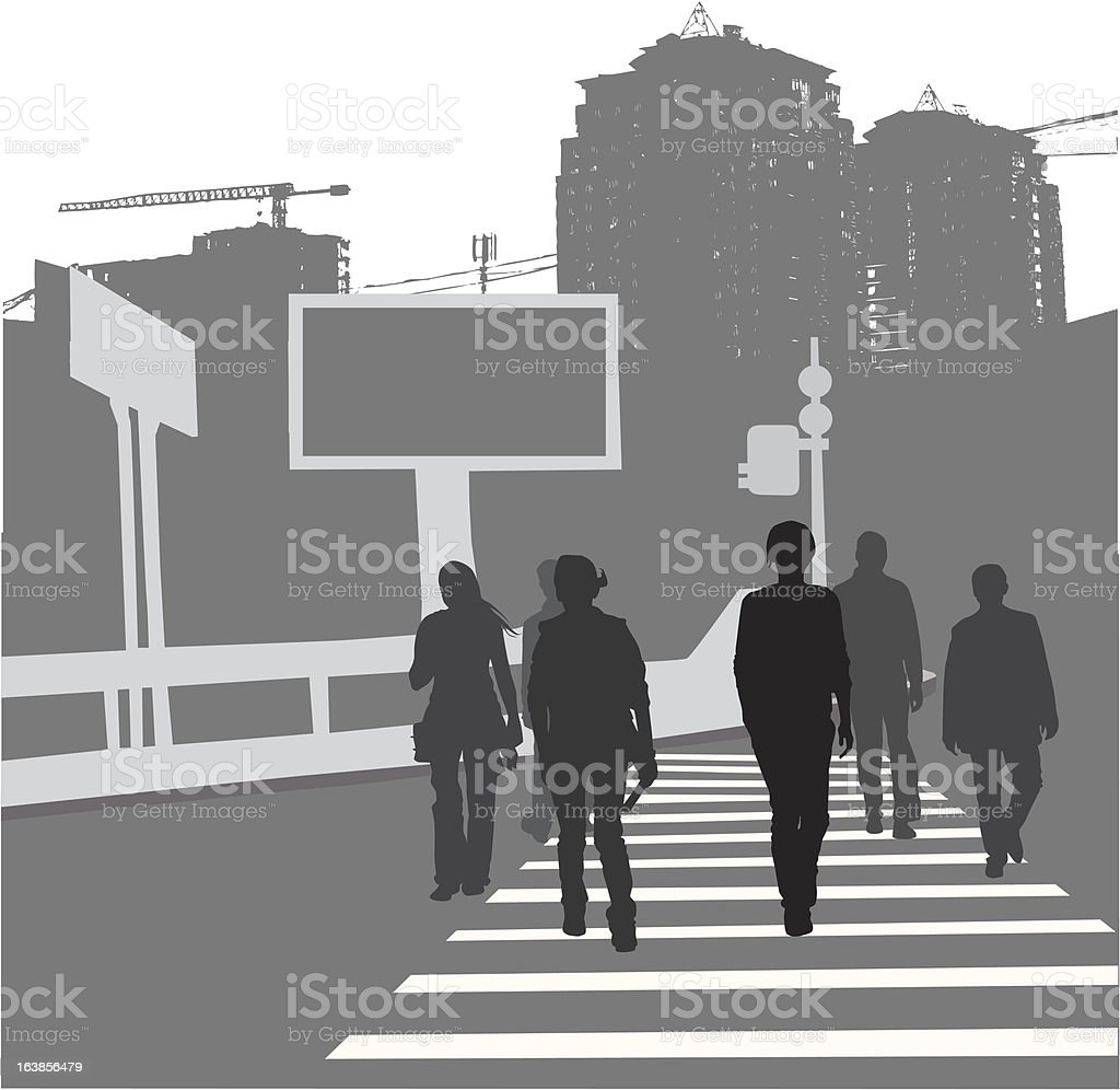 people on the street royalty-free stock vector art