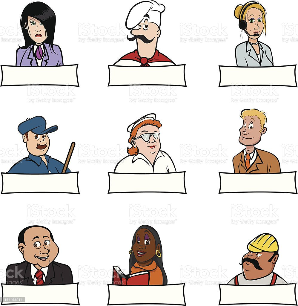 people professions signs royalty-free stock vector art
