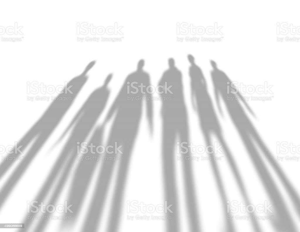 people shadows, negativity concept vector art illustration