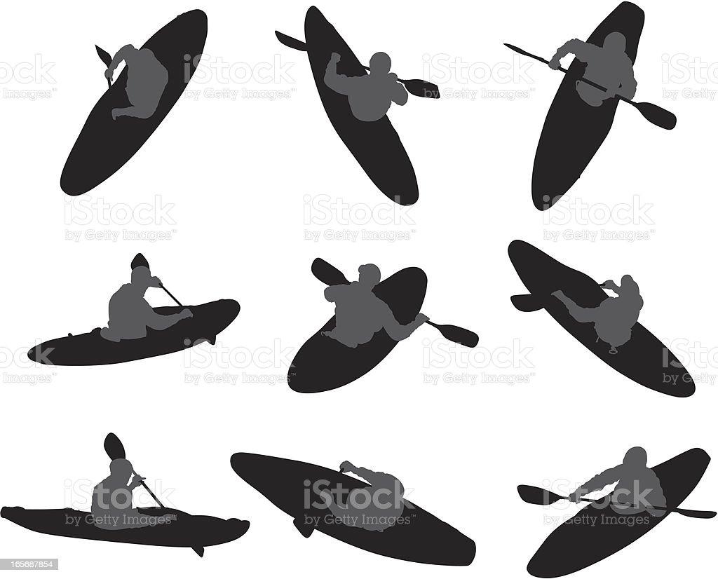 People water rafting royalty-free stock vector art