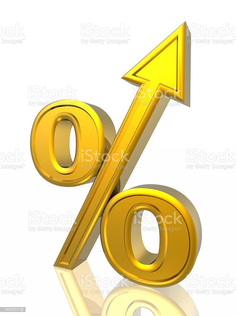 Percent growth vector art illustration