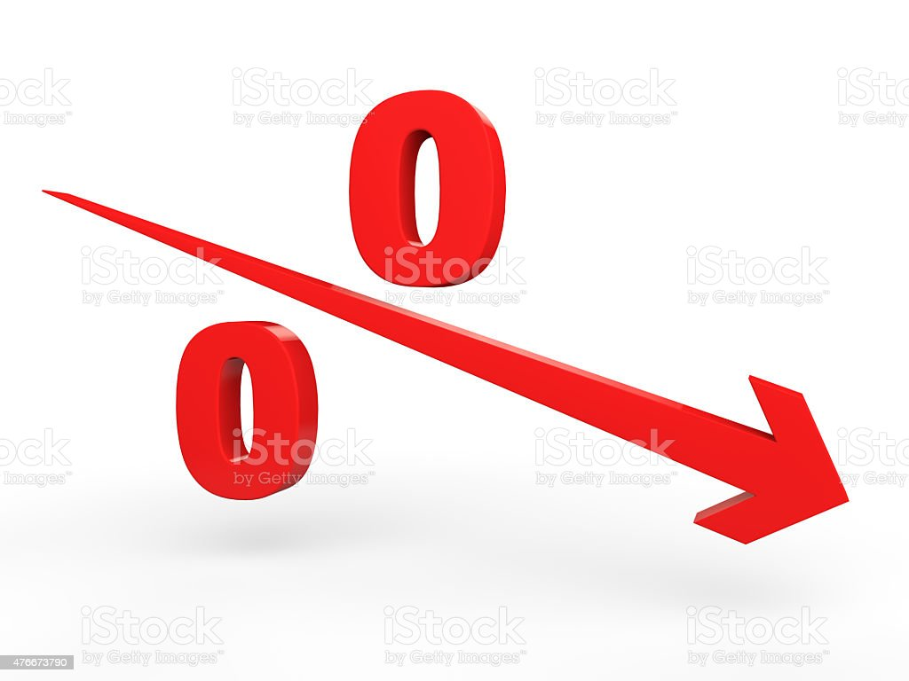 Percentage decrease concept vector art illustration