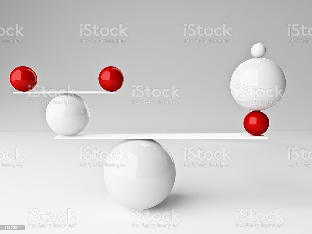perfect balance vector art illustration