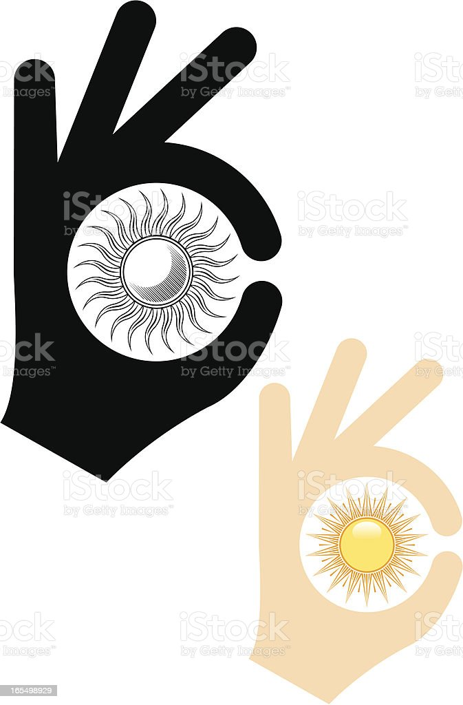 Perfect sun. vector art illustration