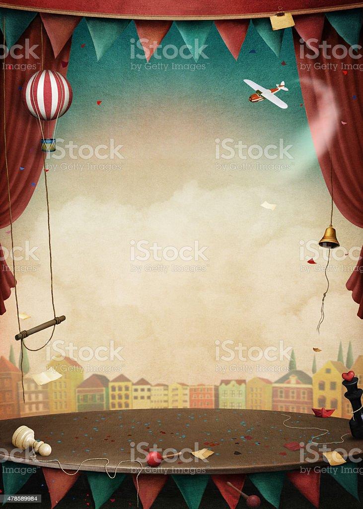 Performance background vector art illustration